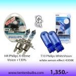 ชุดจับคู่ H4 & T10 4300K ส่งฟรี