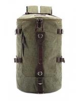 TR01 กระเป๋าทรงกระบอกใหญ่ แคนวาส สีเขียว