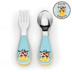 ชุดช้อนและส้อมสำหรับเด็กสุดน่ารัก Skip Hop รุ่น Zootensils Little Kids Fork & Spoon (Giraffe)