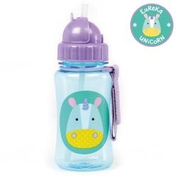 กระติกน้ำชนิดหลอดดูดพร้อมฝาปิด Skip Hop รุ่น Zoo Straw Bottle (Unicorn)