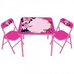 ชุดโต๊ะและเก้าอี้เอนกประสงค์แบบเขียนและลบได้ Disney Erasable Activity Table Sets with 3 Markers (Minnie Mouse)