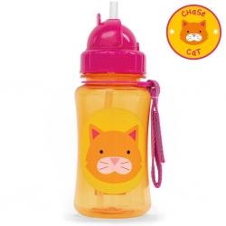 กระติกน้ำชนิดหลอดดูดพร้อมฝาปิด Skip Hop รุ่น Zoo Straw Bottle (Cat)