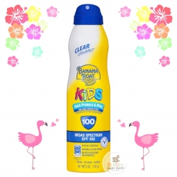 สเปรย์กันแดดสำหรับเด็ก Banana Boat Kids Max Protect & Play Continuous Clear Spray Sunscreen SPF100