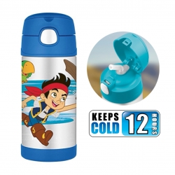 กระติกน้ำสเตนเลสรักษาอุณหภูมิ Thermos FUNtainer Vacuum Insulated Stainless Steel Bottle 12OZ (Captain Jake and the Neverland Pirates)