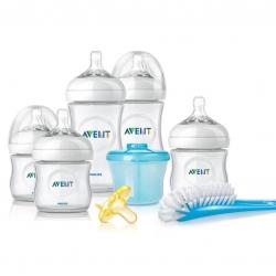 ชุดขวดนมพร้อมถ้วยตวงนมและอุปกรณ์ทำความสะอาด Philips AVENT Newborn Starter Gift Set - Natural