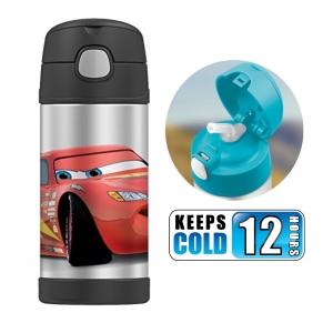 กระติกน้ำสเตนเลสรักษาอุณหภูมิ Thermos FUNtainer Vacuum Insulated Stainless Steel Bottle 12OZ (Cars)