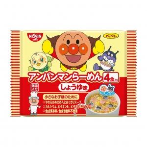 บะหมี่กึ่งสำเร็จรูปอันปังแมนสำหรับเด็ก Nissin 4-Pack Anpanman Instant Noodles (Shouyu Ramen)