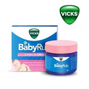 วิคส์เบบี้บาล์มกลิ่นเมนทอล Vicks BabyRub Soothing Vapor Ointment