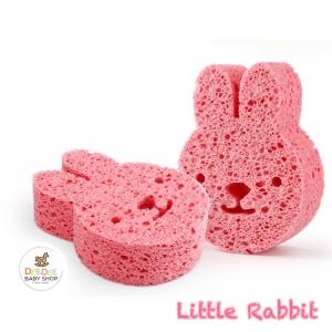 ฟองน้ำนุ่มละมุนจากเยื่อพืชธรรมชาติ Baby's Deluxe Bath Sponge (Rabbit)