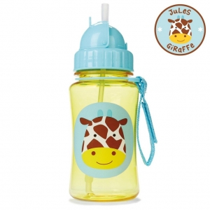 กระติกน้ำชนิดหลอดดูดพร้อมฝาปิด Skip Hop รุ่น Zoo Straw Bottle (Giraffe)