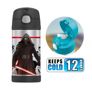 กระติกน้ำสเตนเลสรักษาอุณหภูมิ Thermos FUNtainer Vacuum Insulated Stainless Steel Bottle 12OZ (Star Wars Episode VII Kylo Ren)