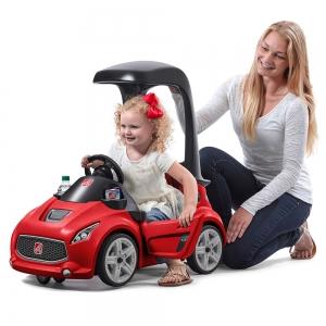 รถขาไถพร้อมหลังคามือจับ Step2 Turbo Coupe Foot-to-Floor (Red)