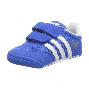 รองเท้าสุดนุ่มสำหรับเบบี๋ Adidas Dragon L2W Crib - Blue (UK3)