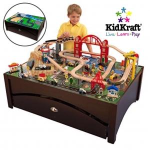โต๊ะกิจกรรมเอนกประสงค์พร้อมชุดโมเดล KidKraft Metropolis Train Set and Table