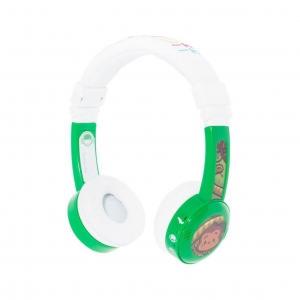 หูฟังควบคุมระดับเสียงสำหรับเด็ก BuddyPhones Volume-Limiting Headphones for Kids - InFlight (Green)