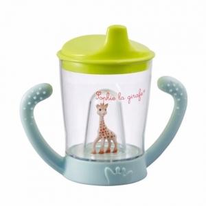 แก้วหัดดื่มยีราฟโซฟีปลอดสารพิษ Vulli Sophie la Girafe Non-Drip Cup Mascotte