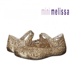 รองเท้ารังนกยอดฮิตสำหรับลูกสาว Mini Melissa รุ่น Campana Zig Zag VI (Gold)