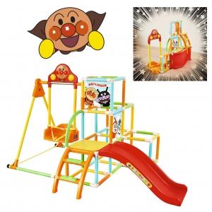 ชุดกิจกรรมปีนป่ายพร้อมชิงช้าแบบพับได้ Anpanman Easy Foldable Swing Park Jungle Gym DX