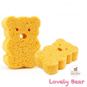 ฟองน้ำนุ่มละมุนจากเยื่อพืชธรรมชาติ Baby's Deluxe Bath Sponge (Bear)