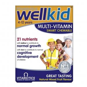 วิตามินรวมสำหรับเด็กชนิดเม็ดเคี้ยวอร่อย Vitabiotics WellKid Smart Chewable