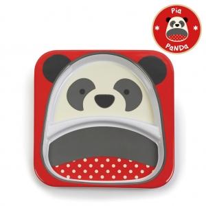 จานอาหารแบ่ง 2 ช่องสำหรับเด็ก Skip Hop รุ่น Zoo Plate (Panda)