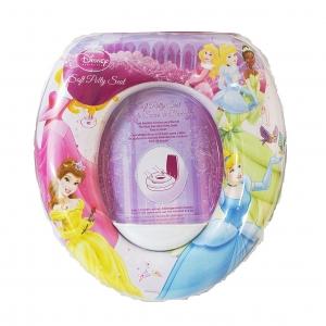 อุปกรณ์รองนั่งชักโครกสำหรับเด็ก Disney Soft Potty Seat (Disney Princess: Aurora, Belle, Cinderella & Tiana)