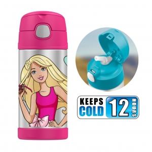กระติกน้ำสเตนเลสรักษาอุณหภูมิ Thermos FUNtainer Vacuum Insulated Stainless Steel Bottle 12OZ (Barbie)