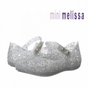 รองเท้ารังนกยอดฮิตสำหรับลูกสาว Mini Melissa รุ่น Campana Zig Zag VI (Silver)