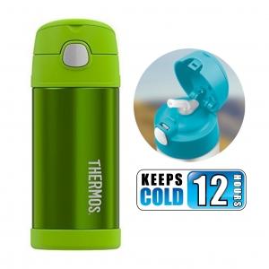 กระติกน้ำสเตนเลสรักษาอุณหภูมิ Thermos FUNtainer Vacuum Insulated Stainless Steel Bottle 12OZ (Lime)