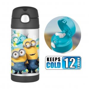 กระติกน้ำสเตนเลสรักษาอุณหภูมิ Thermos FUNtainer Vacuum Insulated Stainless Steel Bottle 12OZ (Minions)