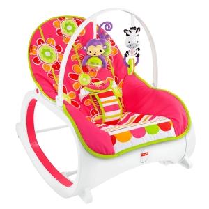 เปลโยกสั่นอัตโนมัติและเก้าอี้โยกเอนกประสงค์ Fisher-Price Infant-to-Toddler Rocker (Floral Confetti)