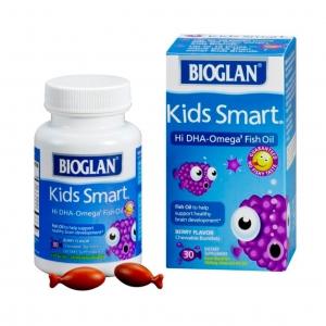 วิตามินเคี้ยวอร่อยเสริมพลังสมอง BIOGLAN Kids Smart Hi DHA-Omega3 Fish Oil