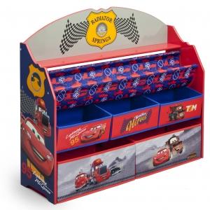 ชั้นวางหนังสือพร้อมกล่องเก็บของเล่นสำหรับลูกน้อย Delta Children Deluxe Book & Toy Organizer (Cars)