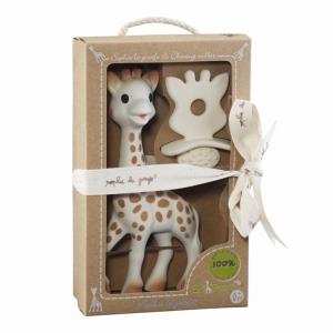 ชุดของขวัญยีราฟโซฟีพร้อมยางกัดจากธรรมชาติ Vulli รุ่น Sophie la Girafe & So'Pure Chewing Rubber