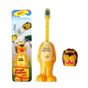 แปรงสีฟันเด้งดึ๋งปลอดสารพิษ Brush Buddies Poppin' Toothbrush (Rickie)