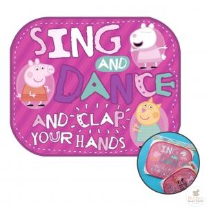 ม่านบังแดดสุดน่ารัก Peppa Pig Window Sun Protectors (Pack of 2) - Sing and Dance and Clap You Hands