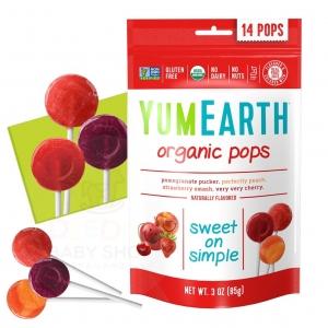 ลูกอมปลอดสารพิษสำหรับเด็ก YumEarth Organic Pops - Assorted Flavor Lollipops