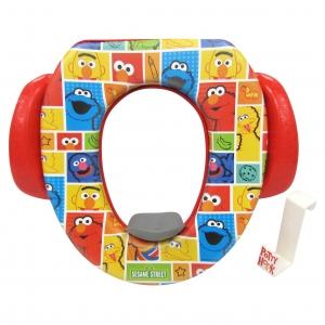 อุปกรณ์รองนั่งชักโครกสำหรับเด็ก Sesame Street Soft Potty Seat