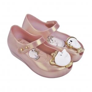 รองเท้าสุดหรูแสนงดงามสำหรับลูกสาว Mini Melissa รุ่น Ultragirl Beauty & the Beast (Metalic Pink)
