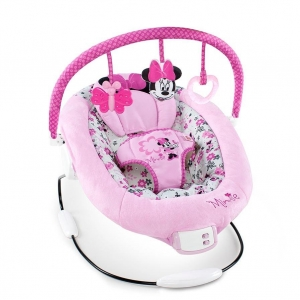 เปลสั่นอัตโนมัติสำหรับลูกสาว Bright Starts Disney Baby Minnie Mouse Garden Delights Bouncer
