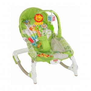 เปลโยกสั่นอัตโนมัติและเก้าอี้โยกปรับระดับได้ Fisher-Price Newborn-To-Toddler Portable Rocker (Giraffe)