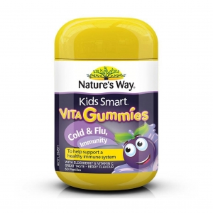 วิตามินเยลลี่ป้องกันอาการหวัดและเสริมสร้างภูมิคุ้มกัน Nature's Way Kids Smart Vita Gummies (Cold & Flu, Immunity)