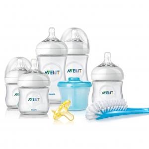 ชุดขวดนมพร้อมถ้วยตวงนมและอุปกรณ์ทำความสะอาด Philips Avent รุ่น Avent Newborn Starter Gift Set - Natural
