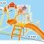 ชุดกิจกรรมปีนป่ายพร้อมชิงช้า Anpanman 4 Way Slide & Swing Jungle Gym thumbnail 9