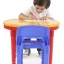 โต๊ะเลโก้เอนกประสงค์ทรงกลม Tot Tutors 2-in-1 Plastic LEGO Compartible Activity Table & 2 Chairs Set - Primary Colors thumbnail 6