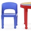 โต๊ะเลโก้เอนกประสงค์ทรงกลม Tot Tutors 2-in-1 Plastic LEGO Compartible Activity Table & 2 Chairs Set - Primary Colors thumbnail 3
