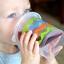 แก้วหัดดื่มสำหรับเด็กเล็ก evenflo Tilty TripleFlo (Blue) thumbnail 2