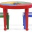 โต๊ะเลโก้เอนกประสงค์ทรงกลม Tot Tutors 2-in-1 Plastic LEGO Compartible Activity Table & 2 Chairs Set - Primary Colors thumbnail 2