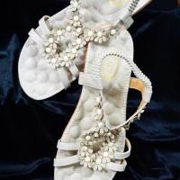รองเท้าไซส์ใหญ่แฟชั่นลำลอง QQB13431 cream