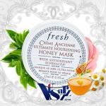 (Tester 15mL) Fresh Creme Ancienne Ultimate Nourishing Honey Mask มาส์คบำรุงผิวที่มีประสิทธิภาพสูงยิ่งกว่ามาส์กใดๆ เป็นมาสก์สูตร ชุ่มชื้นซึ่งประกอบไปด้วยส่วนผสมของน้ำผิ้งบริสุทธิ์ให้การบำรุงผิวได้ยาวนานกว่า 6 ชั่วโมง พร้อมทั้งเพิ่มความยื